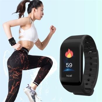 цена на F1 Plus Smart Wristband Health Monitor Heart Rate Blood Pressure Pedometer Waterproof Sports Bracelet Smart Band Watch Men Women