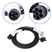 For ниссан автомобиль Тип 1-Тип 2 ev адаптер для EVSE электромобиль 5 м кабель 16A женский и мужской зарядное устройство для электромобиля тип 1 iec62196