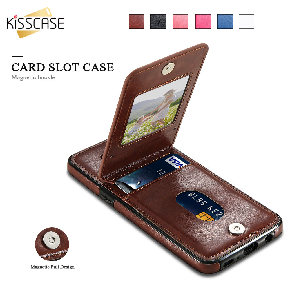 KISSCASE Retro PU Leather Case For Samsung <font><b>Galaxy</b></font> <font><b>S10E</b></font> S9 S8 S10 Plus S7 Card Slot Wallet Case For Samsung Note 9 10 Plus S10 S9 image
