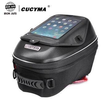 Водонепроницаемая сумка для мотоцикла, черная сумка для масляного бака, универсальная сумка для багажа, сумки для мотоцикла, патрон, база, О...