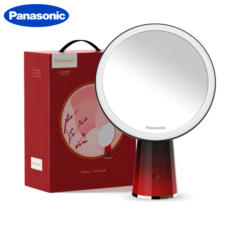 Panasonic  LED Mirror Makeup Mirror with Led Light Vanity Mirrors Rotating Cosmetic Miroir 5X Magnifying Mirrors Light Espejo 1