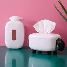 Новинка овечья коробка для салфеток для лица, держатель для салфеток, бумага для органайзера, диспенсер для полотенец, контейнер для ванной комнаты, автомобиля, офиса, домашнего декора