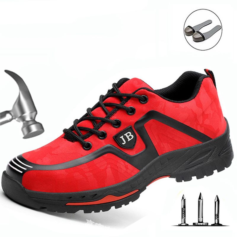 Labor Insurance Shoes Men Breathable Deodorant Safety Work Shoes Steel Toe Caps Anti-smashing Anti-piercing Site Shoes