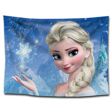 цены Frozen party decoration 75*100cm  wall tapestry decoration Frozen party exclusive wall tapestry everyone's favorite