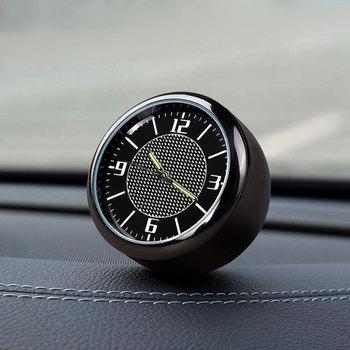1x Logo na samochód zegar Auto Dashboard odpowietrznik wylot klip dekoracji dla Ford Fiesta Mondeo 4 3 Focus 2 1 tranzyt Fusion Kuga Ranger tanie i dobre opinie CN (pochodzenie) Zinc Alloy Auto Vent Clip Clock Automotive Dashboard Time Display Clocks In Car Accessories 3 15cm Car Dashboard Clock