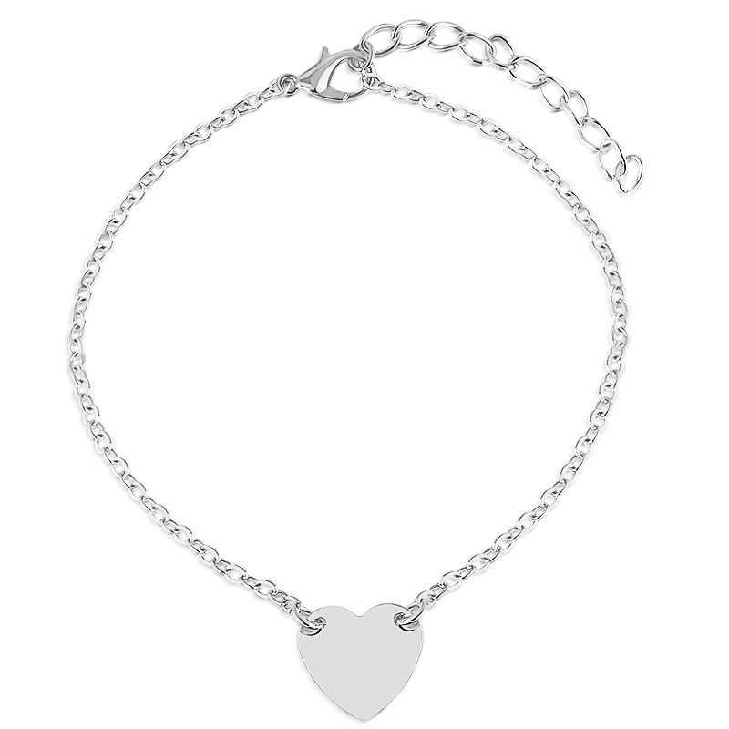 Moda serce kobiety obrączki boso szydełkowe sandały biżuteria na stopy bransoletki obrączki