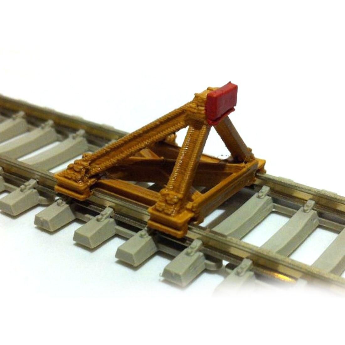 1:87 Track Scene Decoration Buffer Barricade Model For Sand Table HO Scale Train Model
