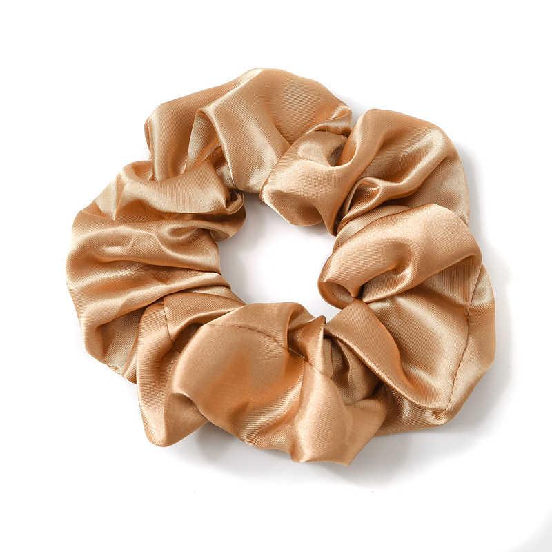 1PC Satin Sutra Warna Solid Scrunchies Elastis Rambut Band 2019 Baru Wanita Wanita Rambut Aksesoris Ekor Kuda Dasi tali