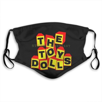 Face Mask Design New The Toy Dolls English Rock Band Boxed Title Logo Black Washable Half Face For Men Women Ladies Diy Masks
