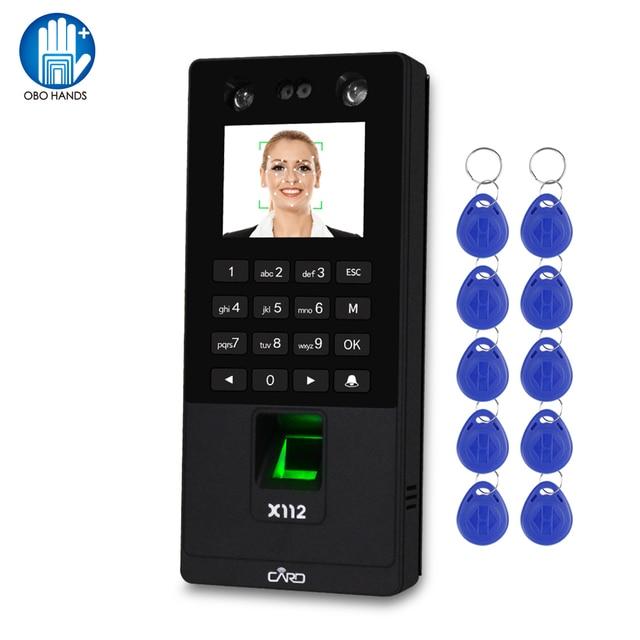TCP/IP/USB Biometrico Facciale di Software di Sistema di Controllo Porta di Accesso Della Tastiera RFID Lettore di Impronte Digitali Viso Macchina di Presenza di Tempo