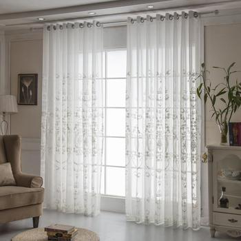 Europe White Curtains Tulle  Window Curtains for Living Room Bedroom Cotton  Voile Sheer Curtains for Window Screening Drapes princess style 100% cotton curtains elegant white lace curtains sheer tulles for girl s room window door sheet screen home decor