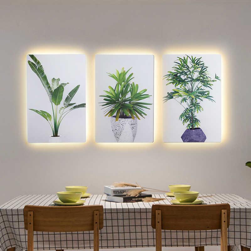 الحديثة طبيعة نمط مزدوج استخدام وحدة إضاءة LED جداريّة مصباح و طلاء جدران الديكور لغرفة المعيشة غرفة نوم أضواء ليلية إضاءة داخلية 16 واط
