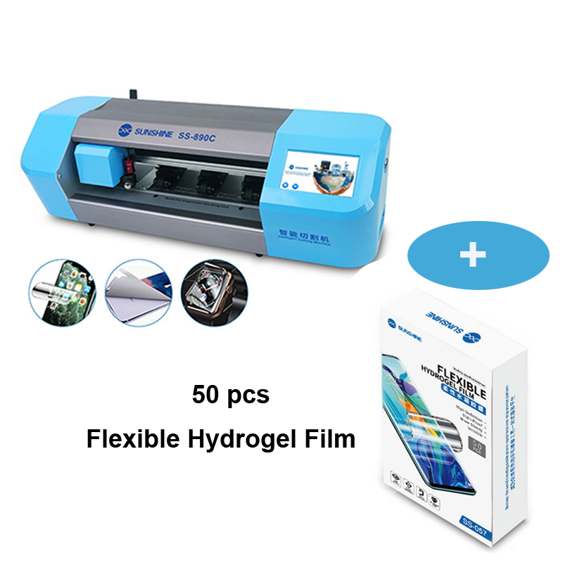 SS-890C Auto Film Cutting Machine for Mobile Phone Lcd Screen Protect Glass Back Cover  Film Cutting With Flexible Hydrogel Film