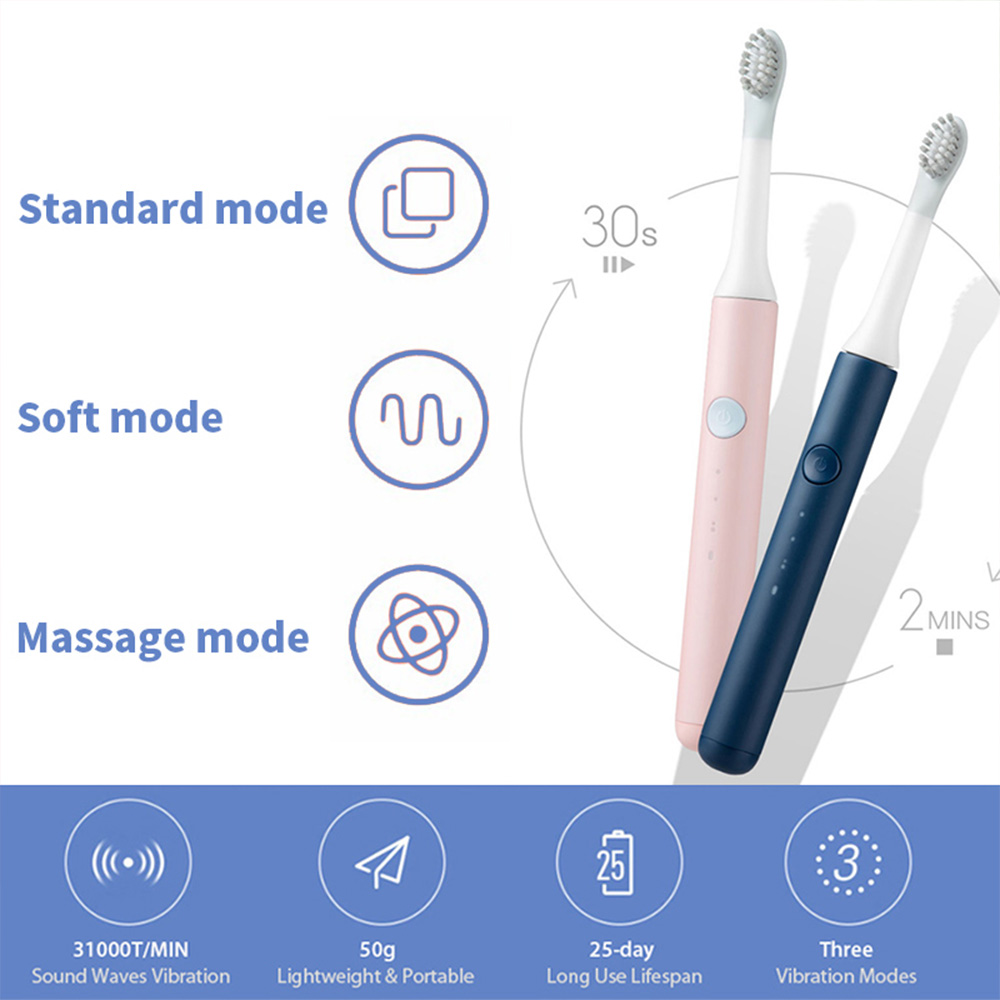 SO WHITE PINJING EX3 Sonic Electric Toothbrush for Xiaomi Mijia Ultrasonic Automatic Tooth Brush Rechargeable Waterproof