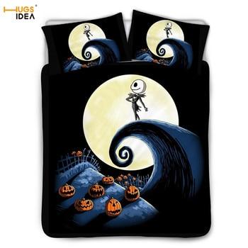 The Nightmare Before Christmas Bedding set Duvet Cover 3D Prints Soft Bedspread&Pillowcase set for Child/Kids 3Pcs Bedroom Sheet