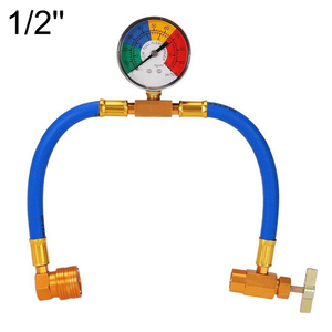 1pcs Car Air Conditioning Accessories AC R134A Refrigerant Recharge Measuring Hose with Gauge High Quality(China)