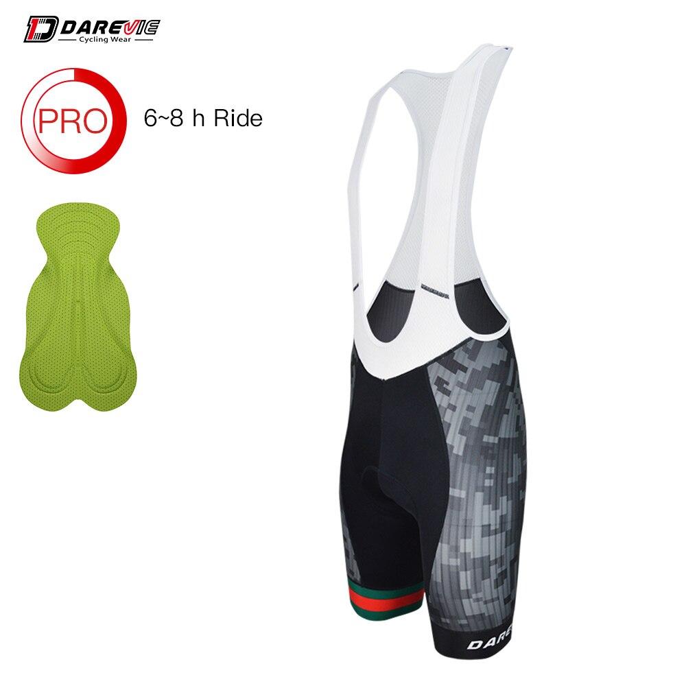 Darevie Pro Bib Shorts Road MTB Cycling Bib Shorts Shockproof AERO High Speed Bicycle Bib Shorts 7 CM Leg Band 6 Hour Riding
