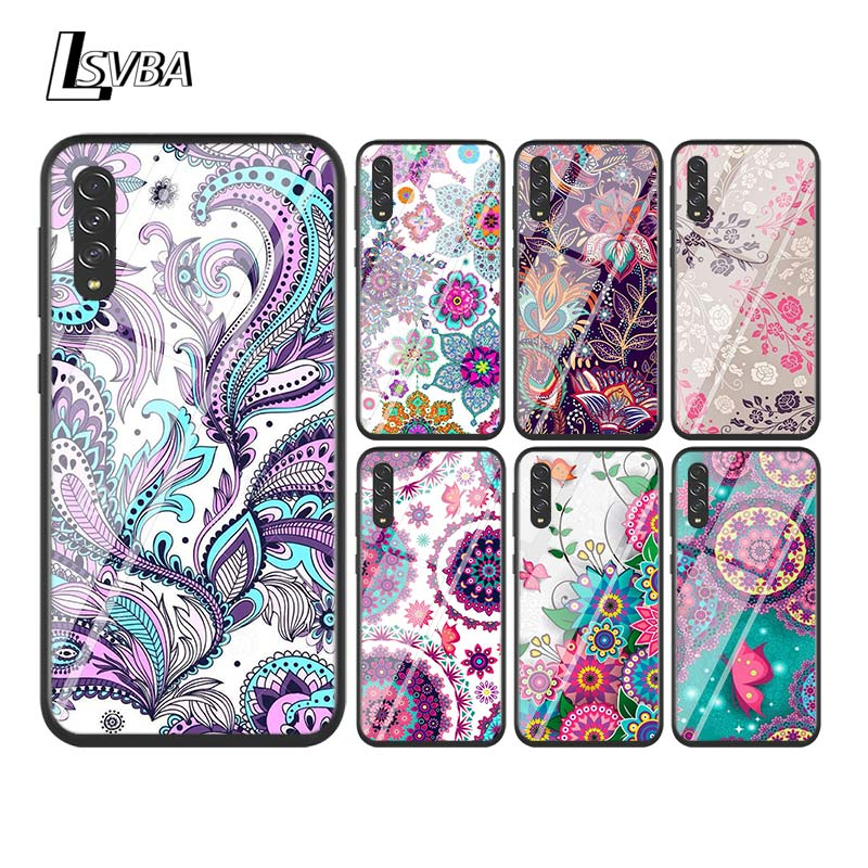 Silicone Soft Cover Flower Mandala Henna for <font><b>Samsung</b></font> Galaxy A90 A80 A70S A70 A60 A50S A50 A40S A30 A20E A10S A10 Phone Case image