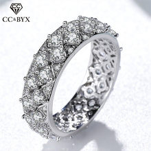 CC Gypsophila Rings For Women Solid 925 Silver Full Diamant Cubic Zirconia Trendy Bridal Wedding Jewelry Drop Shipping CC1609