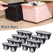 Wheels Storage-Box Casters Adhesive Trash Pulley Silent Home 8pcs Can
