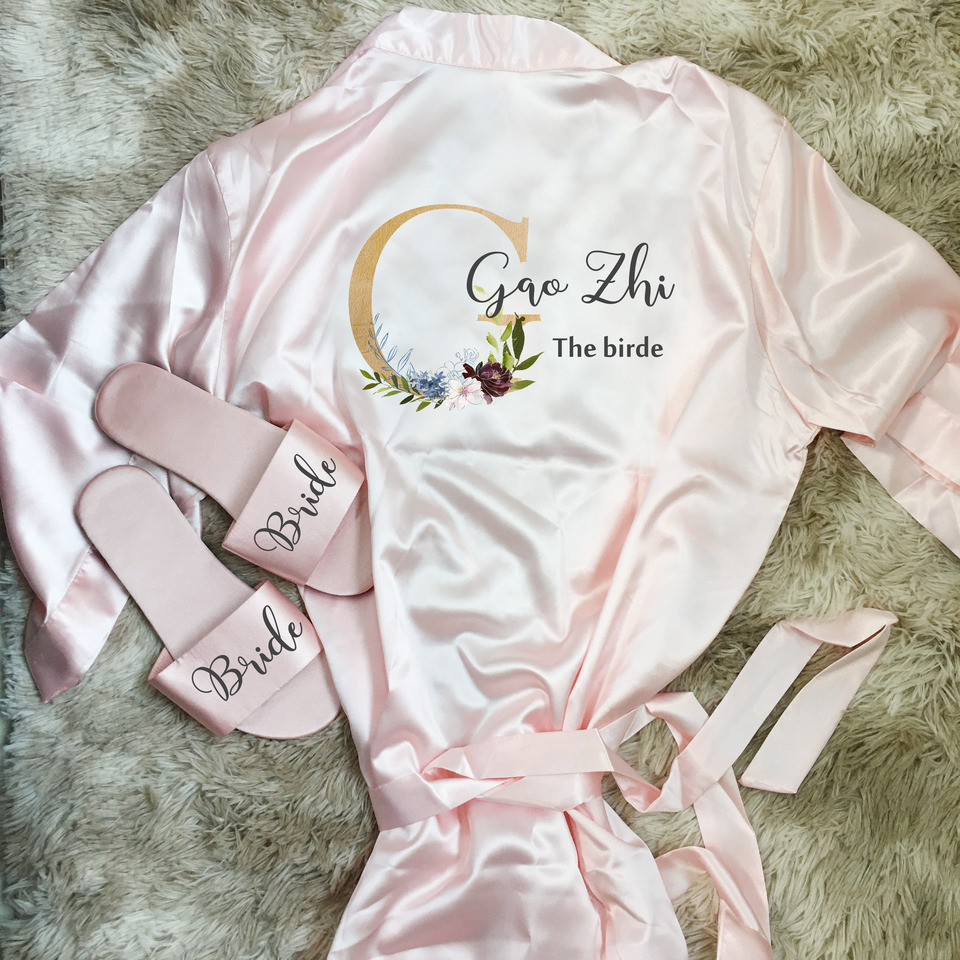 1set Lot Personalized Gift Bride Robe For Wedding Hen Bachelorette Party Bridesmaid Maid Of Honor Gifts Party Favors Aliexpress