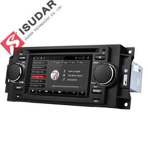Image 5 - Isudar samochodowy odtwarzacz multimedialny android 7.1.1 5 Cal dla chryslera/300C/Dodge/Jeep/dowódca/kompas/Grand Cherokee Radio GPS DVD