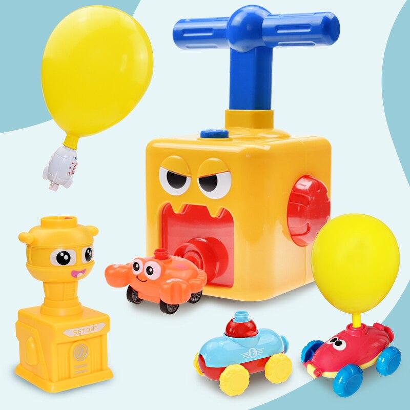 Инерционная пусковая установка для воздушных шаров, игрушечный автомобиль, набор игрушек, подарок для детей, эксперимент, подарок для детей...