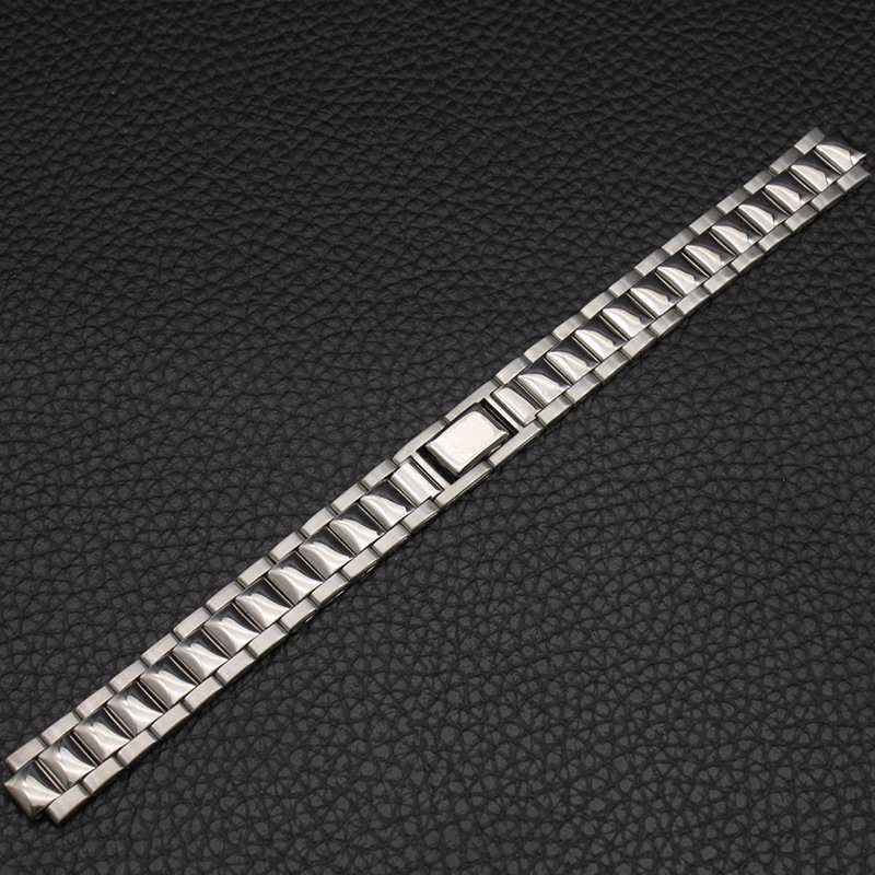 Watch Accessories (Band) Stainless Steel Watch Band Watch Strap WOMEN'S Watch with a Bag Piece Belt Watch Bracelet Protruding Op