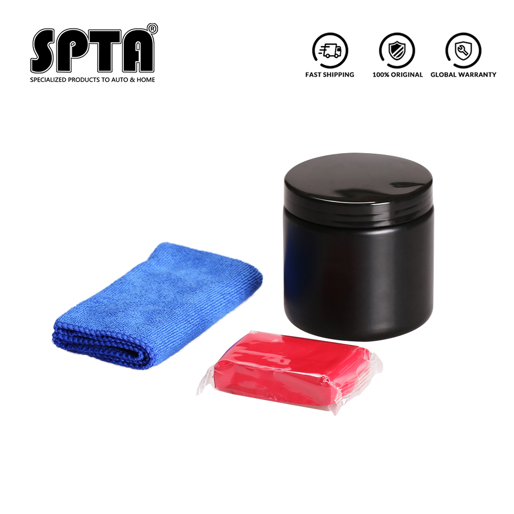SPTA Car Wash Mud Set With Towel Auto Detailing Clean Clay Magic Mud for Car Washing and Cleaning Car Cleaning Set|Car Wash Mud| - AliExpress