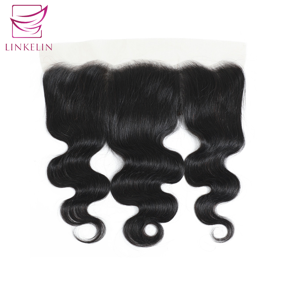 LINKELIN HAIR  Brazilian Body Wave Hair Frontal Lace Closure 13*4 Ear To Ear Closure 130% Destiny Remy Hair Free Shipping