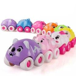 1 шт., мультяшный магнитный мини-автомобиль с животными, детские развивающие игрушки для мальчиков и девочек, забавные обучающие игры, подар...