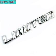 Dsycar 1 pçs moda 3d metal limitado emblema da etiqueta do carro emblema para carros universais moto bicicleta acessórios decorativos novo