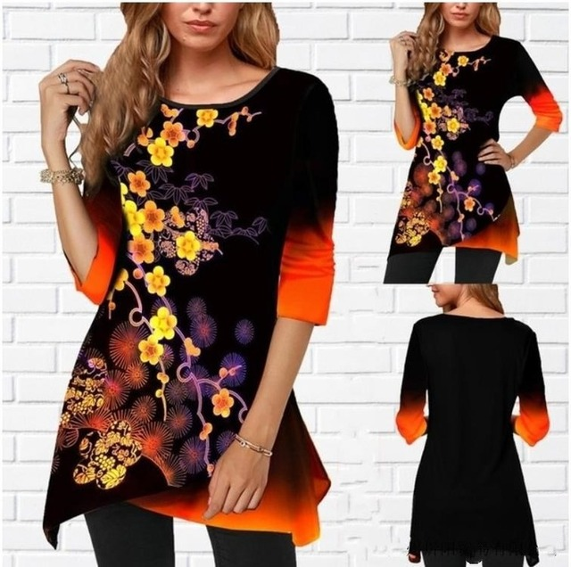 Women Shirt Plus Size Milk-silk  Spring Color 4