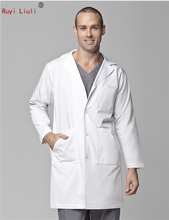operating coat men and women dentists in the department of stomatology long sleeve white gown hospital doctor