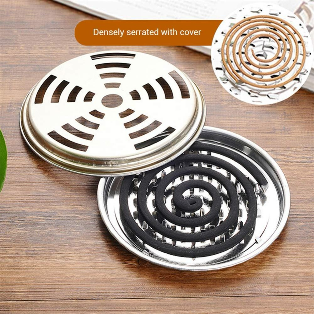 New Summer Anti-mosquito Supplie Portable Mosquito Coils Holder Hotel Metal Repellent Rack With Cover Saft Anti Moustique Tray