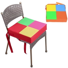 Baby Kids Dining Chair Booster Cushion Contrast Color Increasing Seat Pad Mat 667A