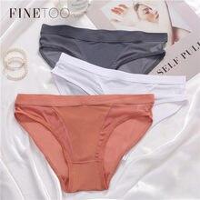 FINETOO-bragas de cintura baja para mujer, M-XL de malla transparente, Braga para chica, lencería 2021