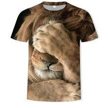 2021 Verano Venta caliente Moda 3D León Camiseta 3DT Diseño de estilo Camisa de manga corta Tendencia