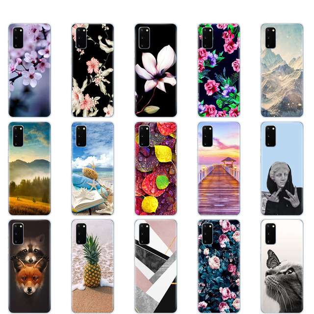For Samsung S20 PLUS Case Silicon TPU Cover For Samsung Galaxy S20 coque For Samsung S20 Ultra bumper S20+ fundas Protective