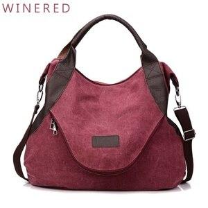Image 5 - Jiulin ブランド大ポケットカジュアル女性のハンドバッグのショルダーバッグハンドバッグキャンバスレザー容量のバッグ女性