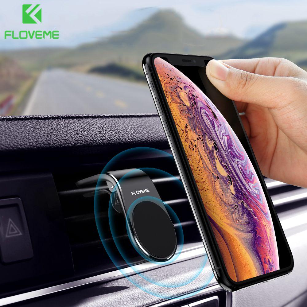 FLOVEME Magnetic Phone Holder Suporte Celular Movil Phone Stand Mount Air Vent Clip Mount Car Phone Holder For IPhone 11 Pro Max