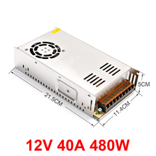 Switching power supply lamp transformer 12v 40A 480W LED strip closed circuit TV adapter