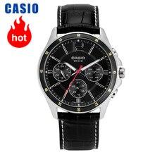 Casio montre נואר פשוט קוורץ montre יוצקים hommes MTP 1374L 1A часы мужские