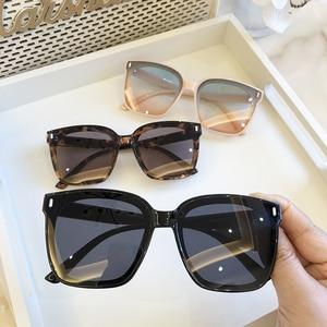 Image 3 - 2021 חדש כיכר גדול משקפי שמש נשים יוקרה מותגי משקפי שמש גברים בציר שחור שמש משקפיים גוונים בצבע Goggle UV400