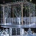 3 m x 3 m 300 led 홈 야외 휴가 크리스마스 장식 웨딩 크리스마스 문자열 요정 커튼 garlands 스트립 파티 조명