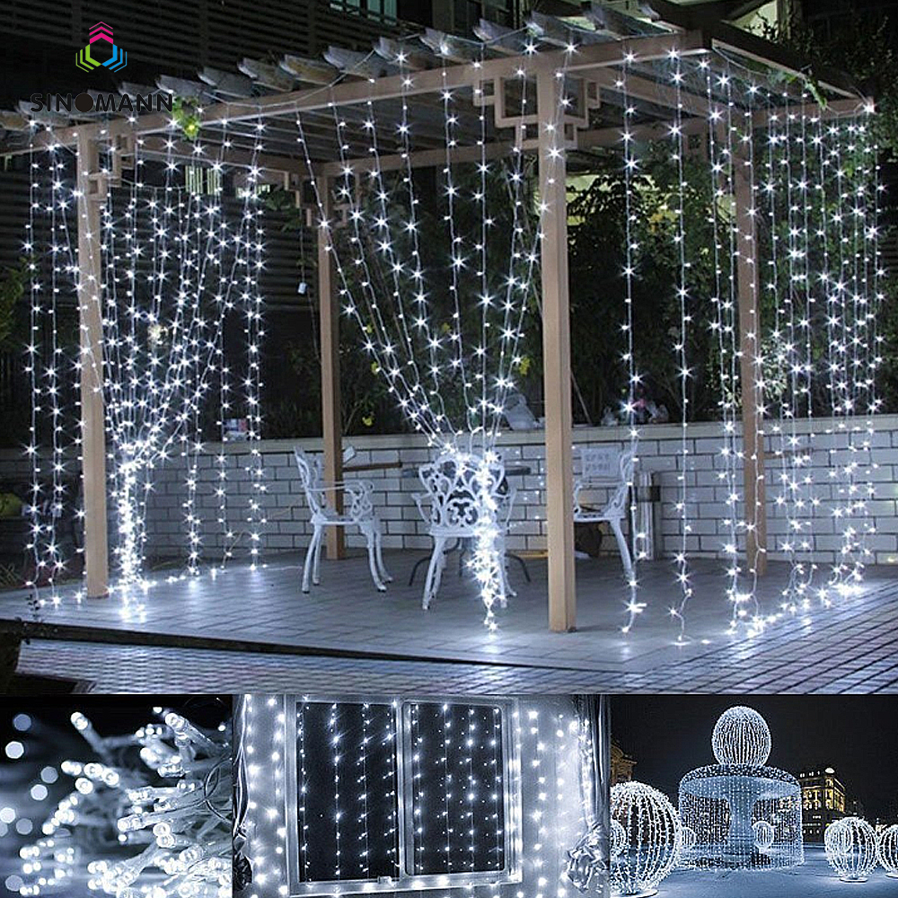 3M x 3M 300 LED Home Outdoor Holiday Christmas Decorative Wedding xmas String Fairy Curtain Garlands Strip Party Lights|Lighting Strings| |  - title=