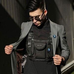 Men Tactical Chest Rig Bags Unisex Fashion Function Chest Bags Streetwear Hip Hop Bag Adjustable Oxford Cloth Vest Waist Bag