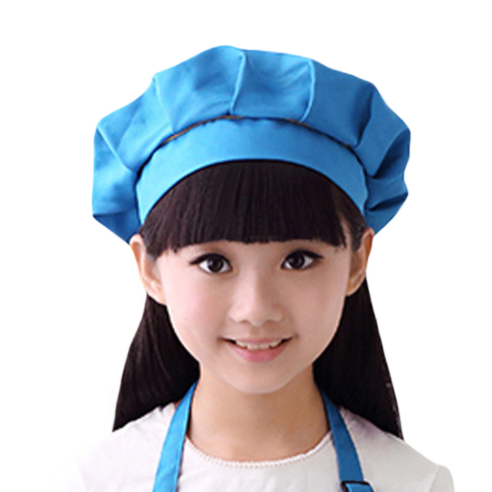 Girls Boys Baking Painting Pastry Pleated Top Cooking Kitchen Acessories Bar DIY Home Bib Chef Hat Party Durable School