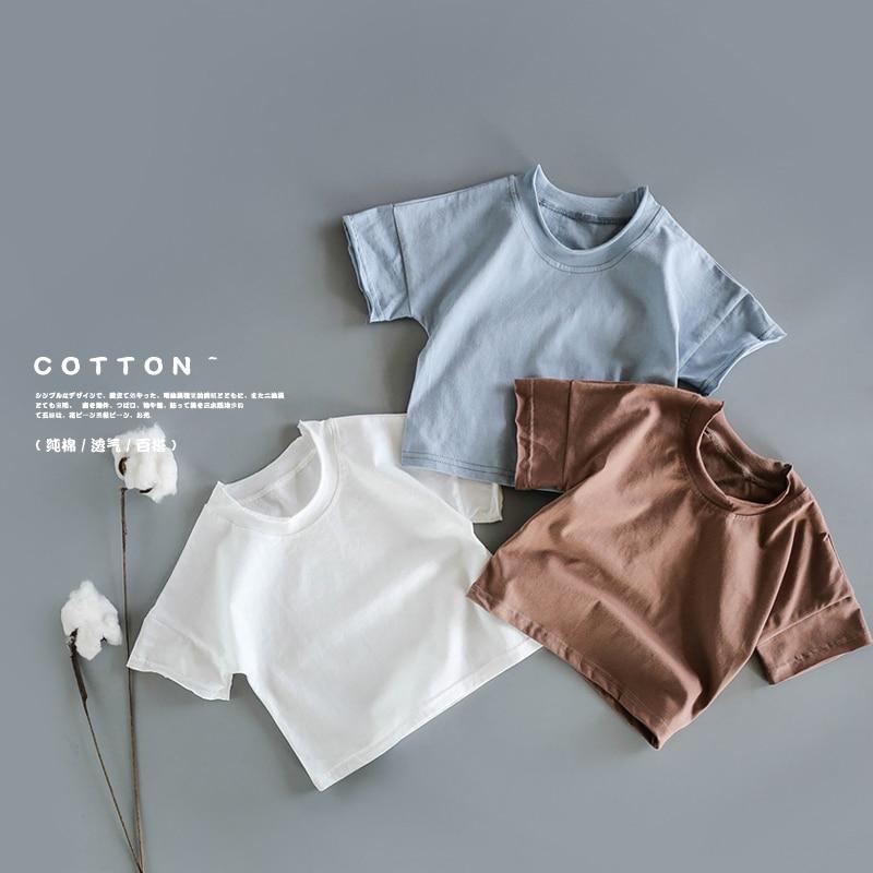 2019 Soft Cotton Children's Summer Fresh Fruit Short Sleeved T Shirts Baby Shoulder Sleeve Art Semi-Sleeved Shirts