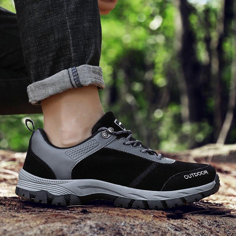 Casual Shoes Men Sneakers Breathable Non-slip Men Fashion Lace-up Waterproof Outdoor Hiking Shoes Plus Size Zapatos De Hombre